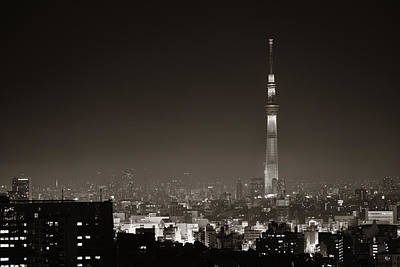 Photograph - Tokyo Rooftop by Songquan Deng
