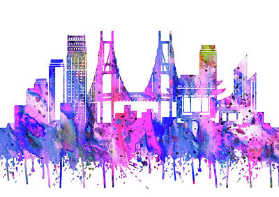 Tokyo Skyline Painting - Tokyo by Rosalia Simunovic