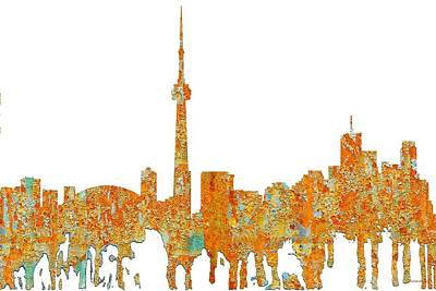 Digital Art - Toronto Ont.skyline by Marlene Watson