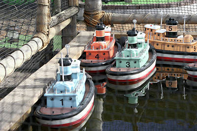 Photograph - 4 Toy Boats by Hold Still Photography