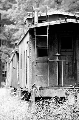 White Photograph - Train by Sebastian Musial