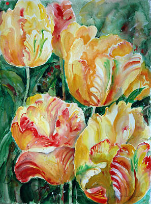 Tulips Art Print by Alexandra Maria Ethlyn Cheshire