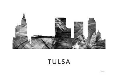 Tulsa Oklahoma. Architecture Digital Art - Tulsa Oklahoma Skyline by Marlene Watson
