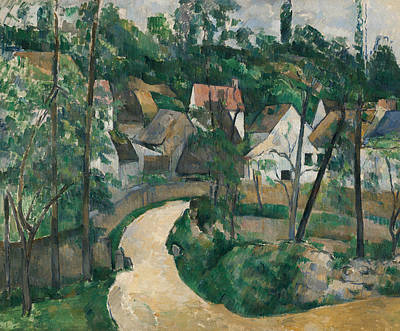 French Village Painting - Turn In The Road by Paul Cezanne