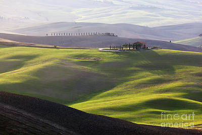 Ground Photograph - Tuscany Landscape At Sunrise by Michal Bednarek