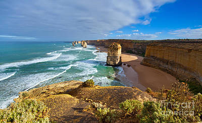Weather Beaten Photograph - Twelve Apostles Great Ocean Road by Bill  Robinson