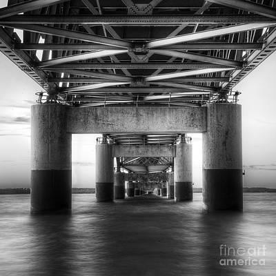 Mackinac Photograph - Under The Mackinac Bridge by Twenty Two North Photography