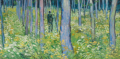 Painting - Undergrowth With Two Figures by Vincent van Gogh