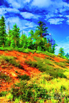 Digital Art - Up The Hill by Rick Bragan