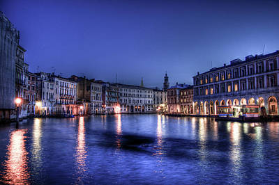 Venice By Night Art Print