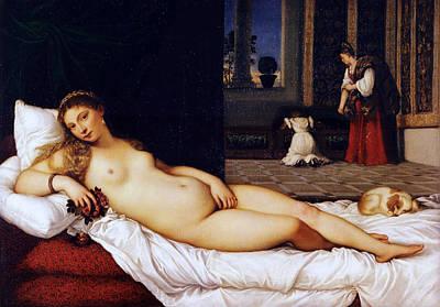 Fertility Painting - Venus Of Urbino by Titian