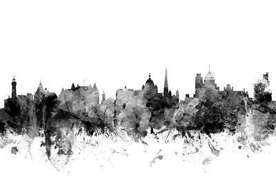 Victoria Canada Skyline Art Print