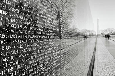 Photograph - Vietnam War Memorial by Brandon Bourdages