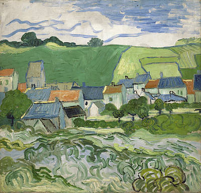 Farmland Painting - View Of Auvers by Vincent van Gogh