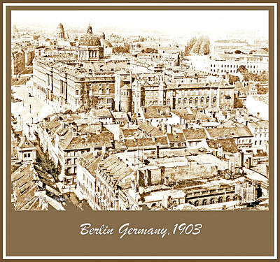 Photograph - View Of Berlin, Germany, 1903, Vintage Photograph by A Gurmankin