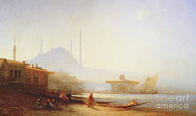 Turkish Painting - View Of Istanbul by Felix Ziem