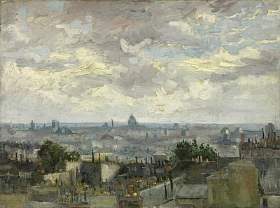 House Painting - View Of Paris by Vincent van Gogh