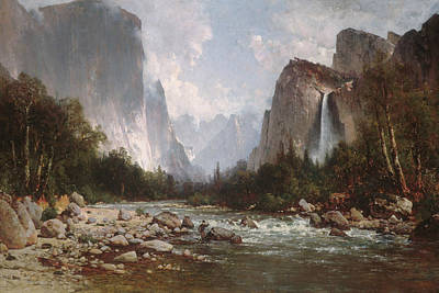 Painting - View Of Yosemite Valley by Thomas Hill