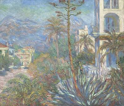 Mountain Road Painting - Villas At Bordighera by Claude Monet