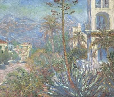 Villa Painting - Villas At Bordighera by Claude Monet