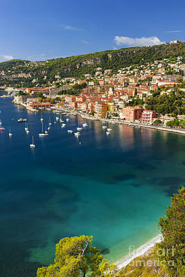 Villefranche-sur-mer View On French Riviera Print by Elena Elisseeva