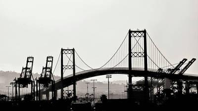 Photograph - Vincent Thomas Bridge by Joseph Hollingsworth