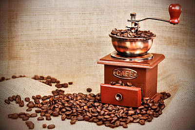 Old Grinders Mixed Media - Vintage Coffee Mill by Boyan Dimitrov