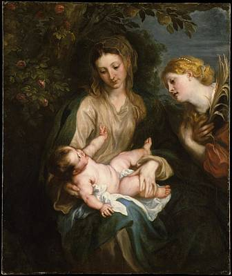 Virgin And Child With Saint Catherine Of Alexandria Original by Anthony van Dyck