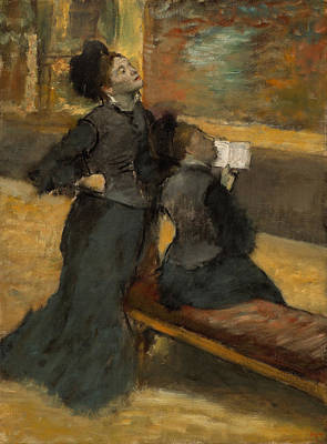 Exhibition Painting - Visit To A Museum by Edgar Degas