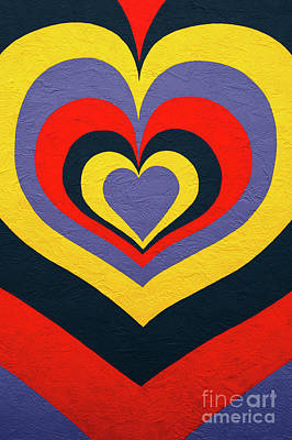 Photograph - Visual Art Mural Of Hearts  by Jim Corwin