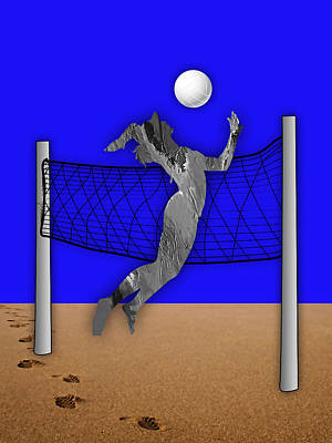 Mixed Media - Vollyball Collection by Marvin Blaine