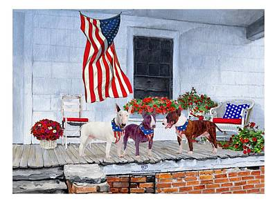 Bullie Painting - Waiting For The Big Parade by Ann Kallal