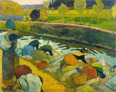 Cloth Painting - Washerwomen by Paul Gauguin