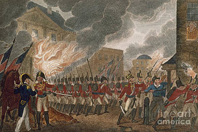 Redcoat Photograph - Washington Burning, 1814 by Granger