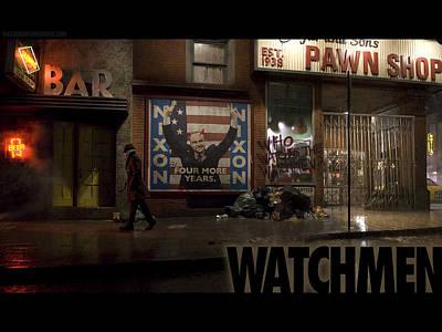 City Digital Art - Watchmen by Super Lovely