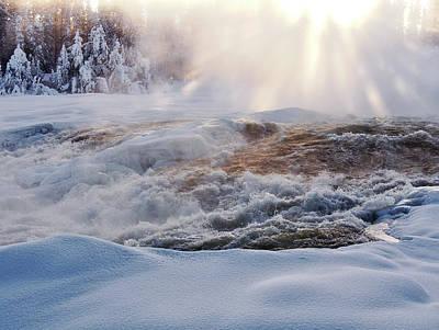 Photograph - Waterfall Storforsen by Tamara Sushko
