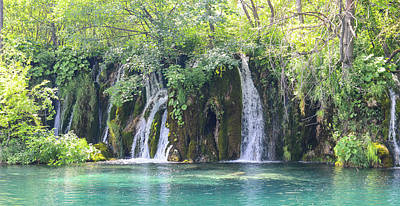 Photograph - Waterfalls In Plitvice National Park In Croatia by Brandon Bourdages