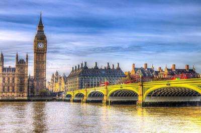 Owls - Westminster Bridge and Big Ben by David Pyatt