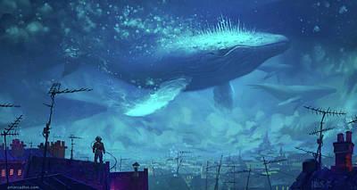 Whale Digital Art - Whale by Emma Brown