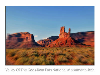 Photograph - 4 Wheeling Valley Of The Gods Utah Text by Thomas Woolworth