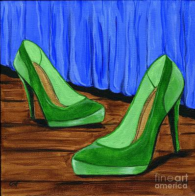Art Print featuring the painting Who Wears These Shoes by Gail Finn
