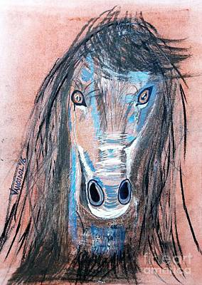 Colorado Rockies Drawing - Wild Mustang by Scott D Van Osdol