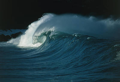 Waves Photograph - Wind-blown Wave Breaking In Hawaii by G. Brad Lewis