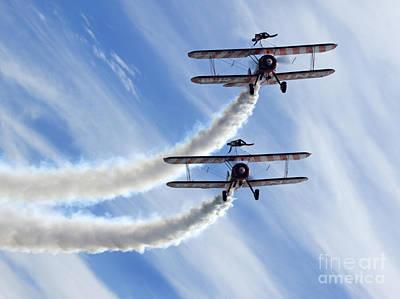 Breitling Photograph - Wingwalkers by Angel  Tarantella