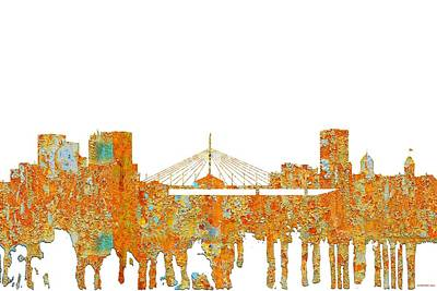 Digital Art - Winnipeg Man.skyline by Marlene Watson