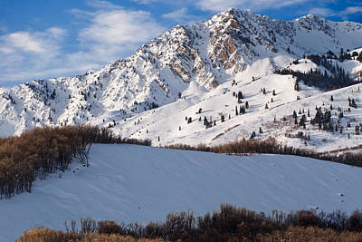 Winter In The Wasatch Mountains Of Northern Utah Art Print
