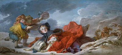 Child Painting - Winter by Jean-Honore Fragonard