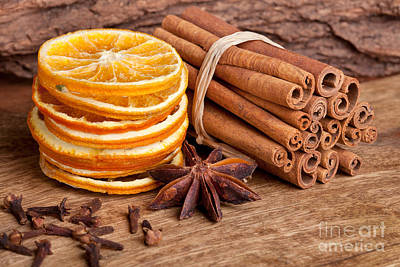Rustic Photograph - Winter Spices by Nailia Schwarz