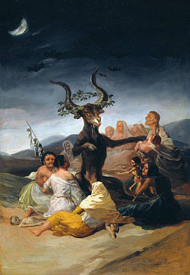 Romanticism Painting - Witches Sabbath by Francisco Goya