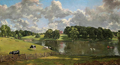 Swans... Painting - Wivenhoe Park Essex by John Constable
